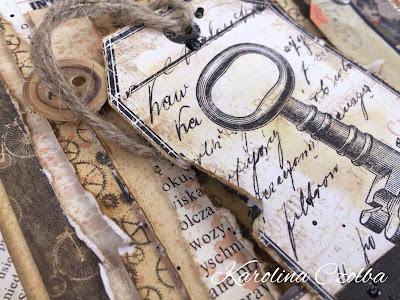 ręcznie robiona postarzana kartka