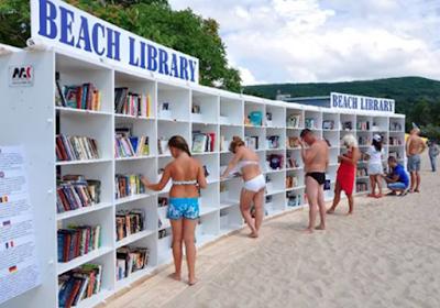 biblioteca beach library Albena Restort Bulgaria