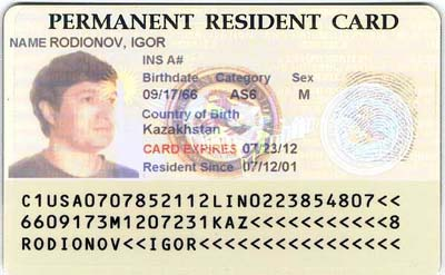 Expired Green Card Travel Temporary I