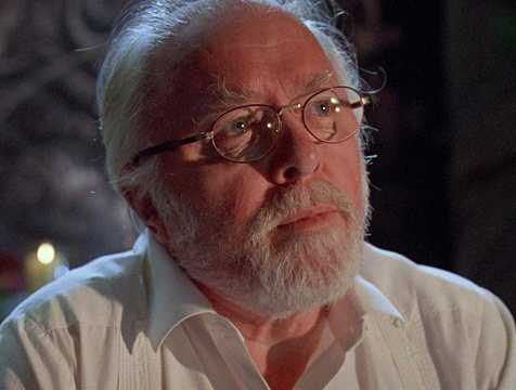 John Hammond (Richard Attenborough) en Jurassic Park - Cine de Escritor