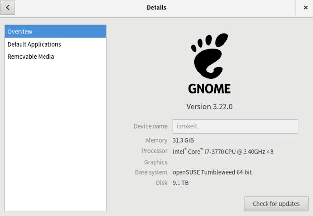 gnome 3.22 opensuse