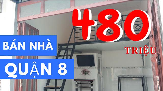 Bán nhà hẻm Phạm Thế Hiển phường 6 Quận 8 giá 480 triệu