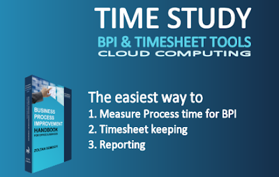 Time Study, Timesheet cloud computing tools (Business Process Improvement Tools)