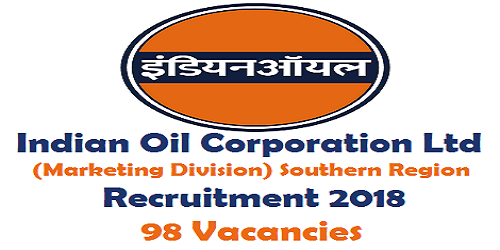 IOCL (marketing division) Southern Region Recruitment 2018