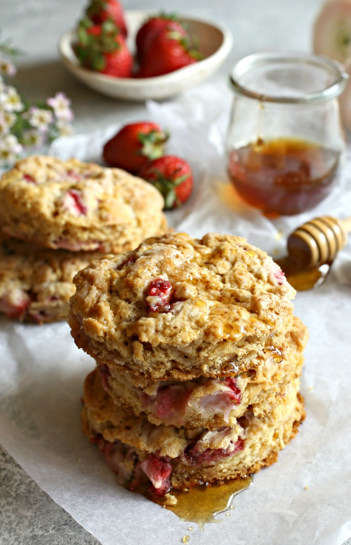 Strawberry-and-Honey-Oat-Scones