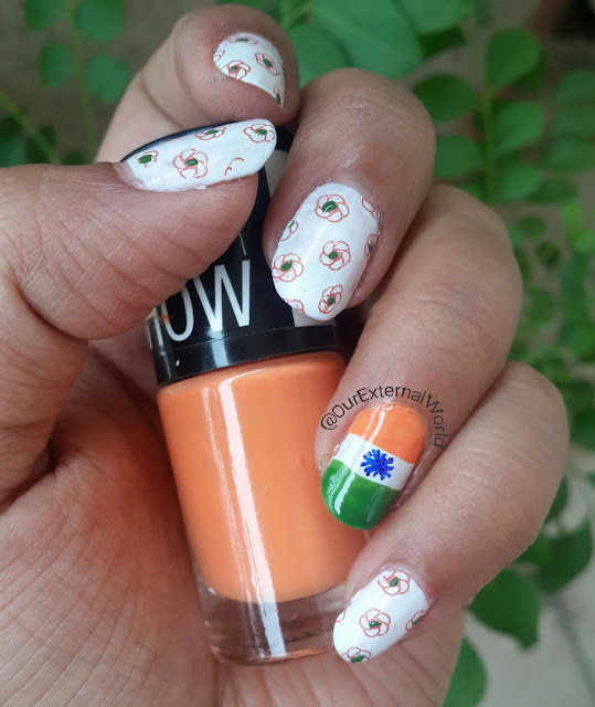 Indian Independence Day Nail Art, TriColor, National Flag