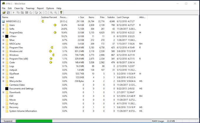 WinDirStat – Công cụ kiểm tra dung lượng ổ cứng cho Windows