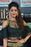 Ritika Singh in a Ethnic Deep Neck Dark Green Choli Ghagra at IIFA Utsavam Awards March 2017 ~ 007.JPG