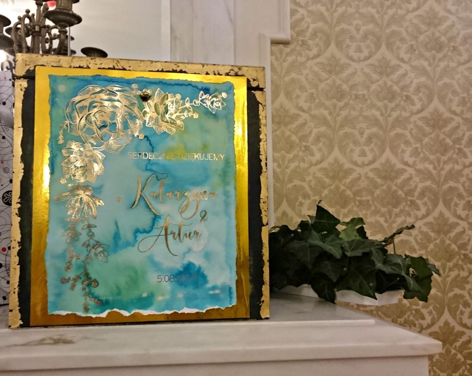 Pudełko na telegramy ślubne  DIY