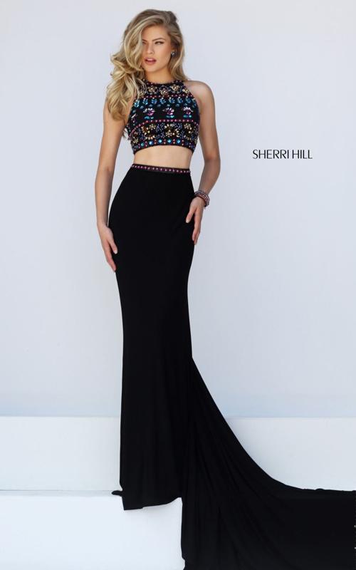 Girls Prom Dresses 2016: Sherri Hill Two Piece Long PROM Dress