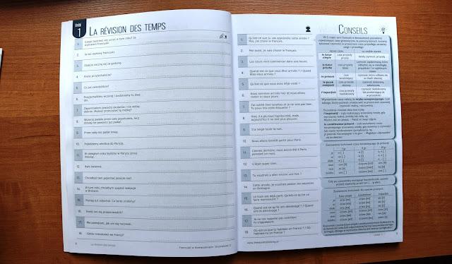 """Recenzje #7 - """"Francuski w tłumaczeniach cz. 3"""" - przykładowa strona 2 - Francuski przy kawie"""