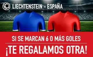 sportium promocion 25 euros Liechtestein vs España 5 septiembre