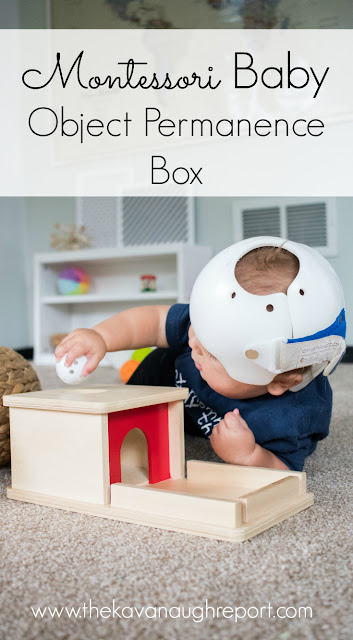A look at this popular Montessori baby toy -- the object permanence box!