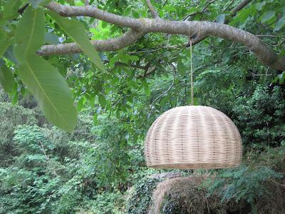 lamparas de mimbre, lamparas de cesteria, lamparas de vímet
