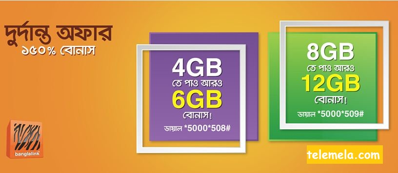 Banglalink 2GB & 4GB Free EID Internet Bonus Offer