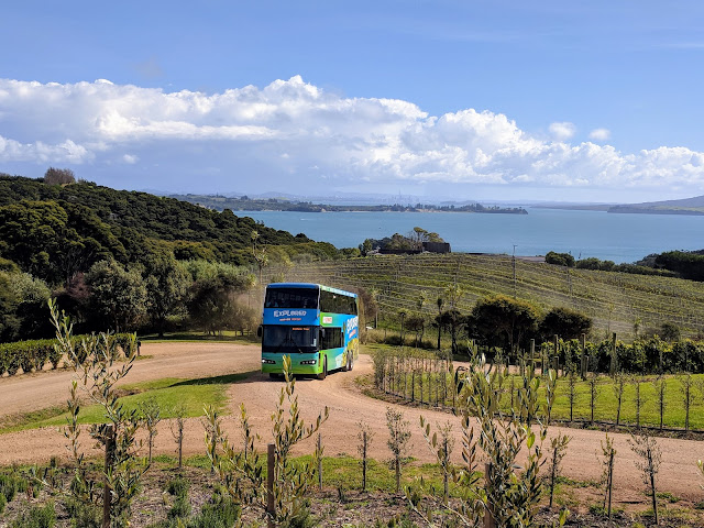 Waiheke Explorer Hop-on Hop-off bus on Waiheke Island New Zealand
