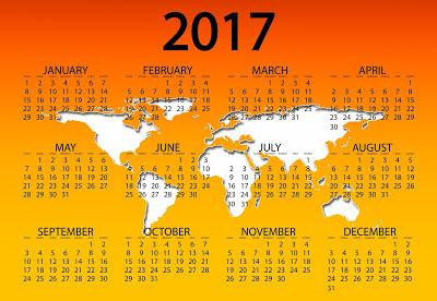 Happy New Year Calendar 2017 Free