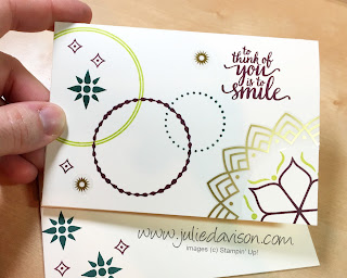 Stampin' Up! Eastern Beauty Note Card ~ Eastern Palace Starter Bundle ~ www.juliedavison.com