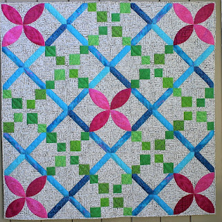 FLOWER QUILT-IRISH CHAIN QUILT-PINK-GREEN-QUILT FOR SALE