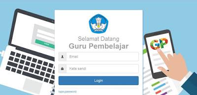 Tampilan Website Guru Pembelajar Online