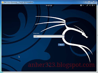 username login Kali linux