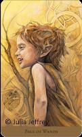 Tarot of the Hidden Realm Julia Jeffrey Page of Wands