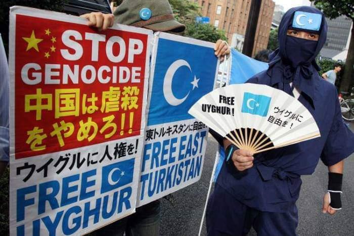 Dinyinyiri Secuil Oknum di Indonesia, Begini Aksi Warga Jepang Bela Muslim Uyghur