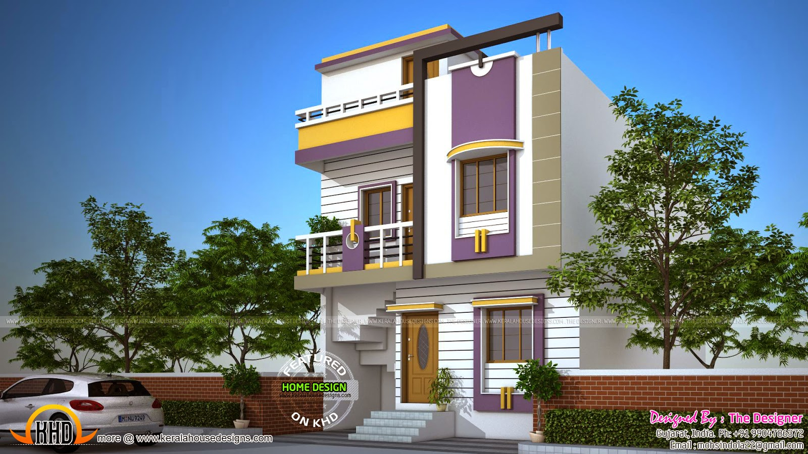 February 2015 kerala home design and floor plans for Home design in 760 sq ft