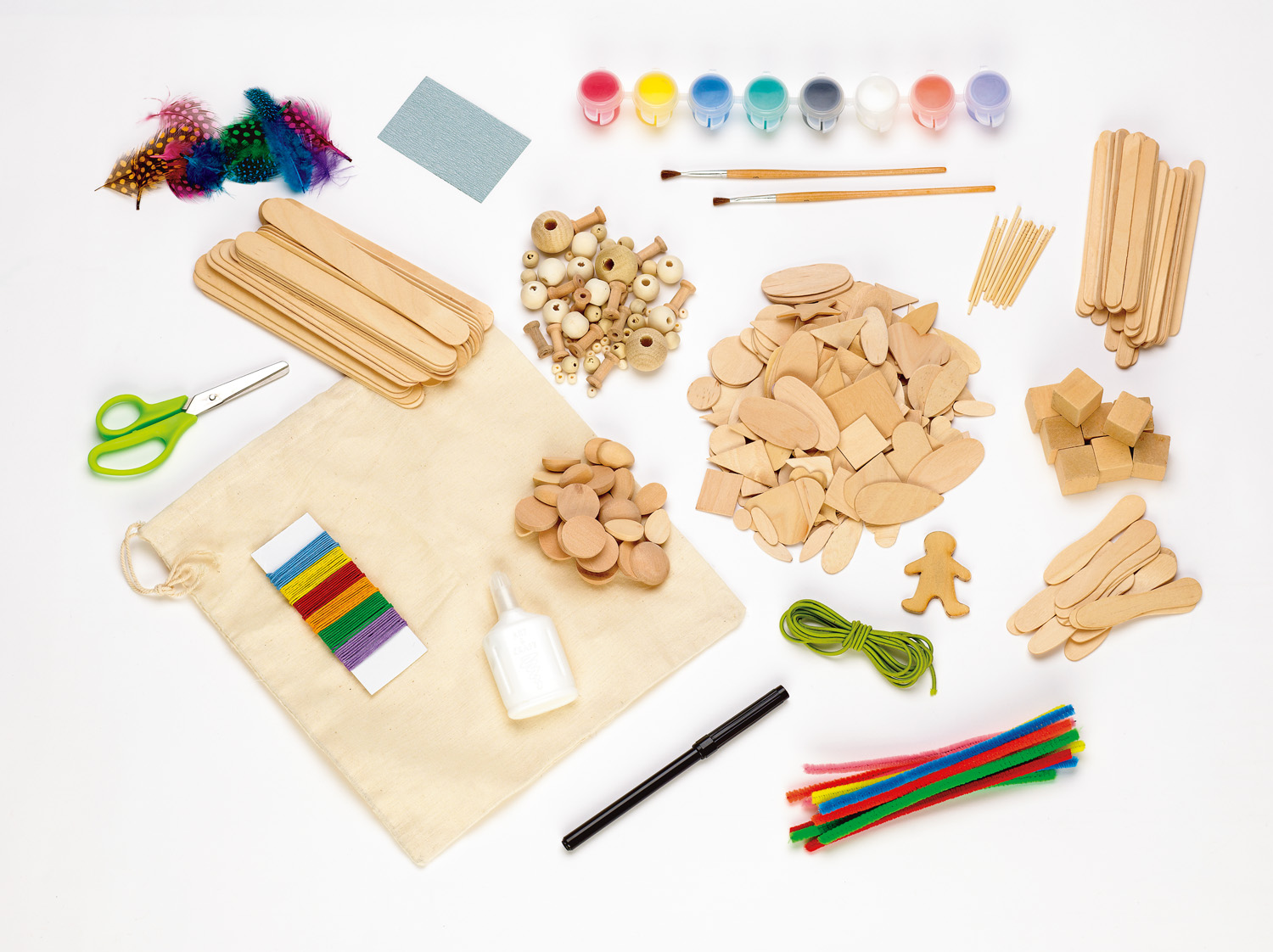 Craft kits for preschoolers - Wooden Craft Kits For Kids Classic Wood Crafts By Creativity For Kids Go Grow