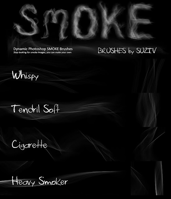 Smoke Brushes for Photoshop set 02