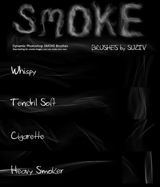 Smoke Brushes for Photoshop set 02