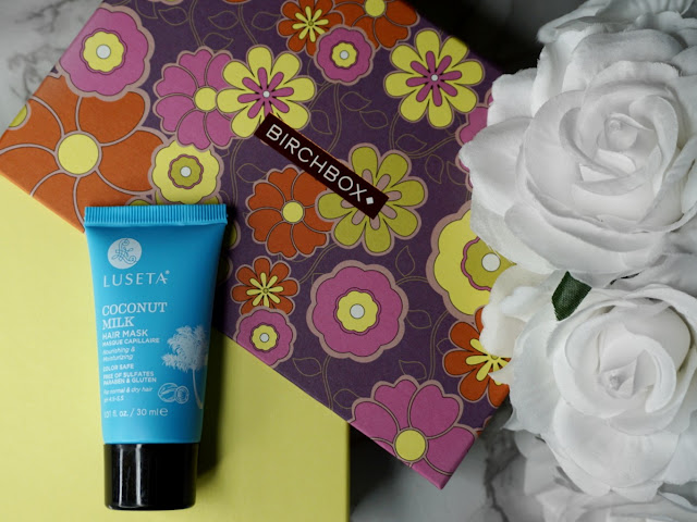 February Birchbox 2018 edition flatlay with luseta coconut hair mask