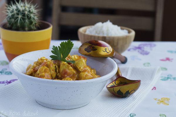 Pollo al curry fácil #sinlacteos #singluten