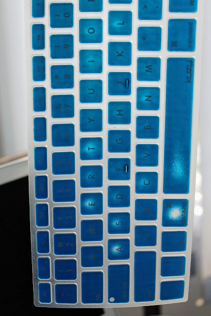 Navy Blue Kuzy Keyboard Cover - Worn out