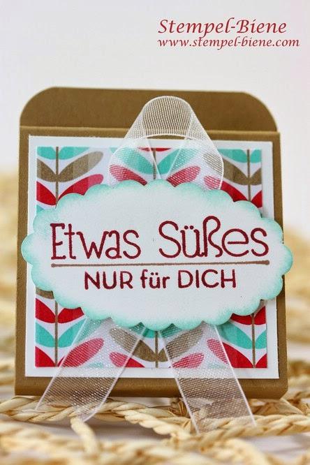Schokoladenverpackung, Designerpapier Frisch & Farbenfroh, Goodies, Stampin up Artikel bestellen, Stampin Up Recklinghausen, Stampin Up Ruhrgebiet
