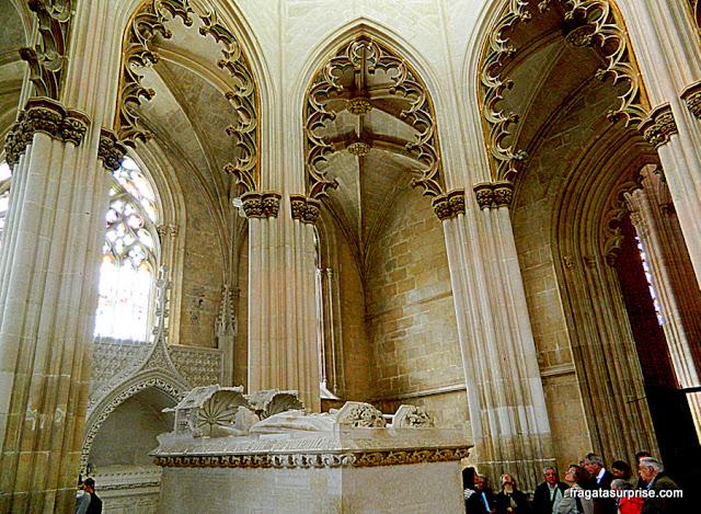 Túmulo de D. João I na Capela do Fundador, Mosteiro da Batalha, Portugal