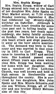 Obituary of Sopha Meinzen Kropp