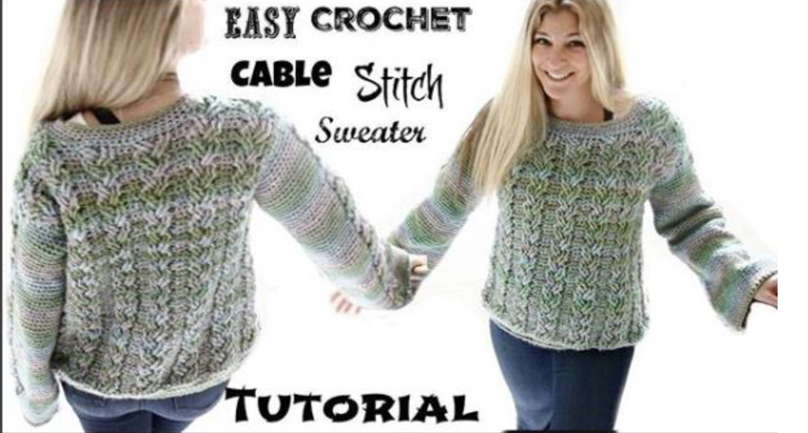Annoos Crochet World Easy Cable Stitch Sweater