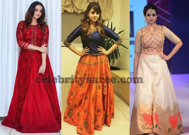 bhavana-half-sarees-crop-tops