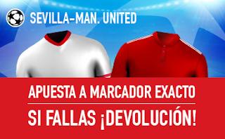 sportium promocion Sevilla vs Manchester United 21 febrero