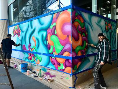 Artspan Transbay Terminal mural process 2