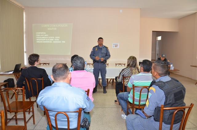 Comandante do 16º BPM ministra palestra sobre segurança em São Bernardo MA