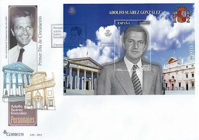 Sobre con el sello de Adolfo Suárez