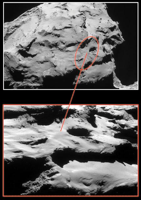 Região de Ma'at, onde a sonda Rosetta irá colidir