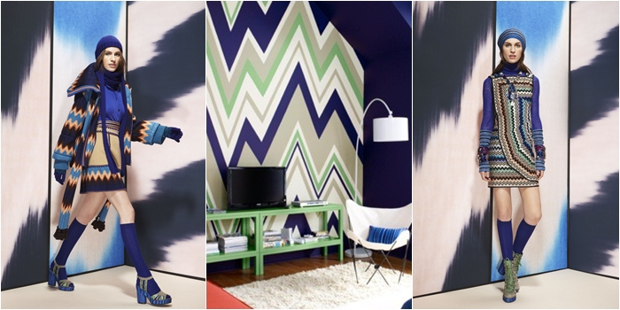 Missoni blue zig zag inspiration