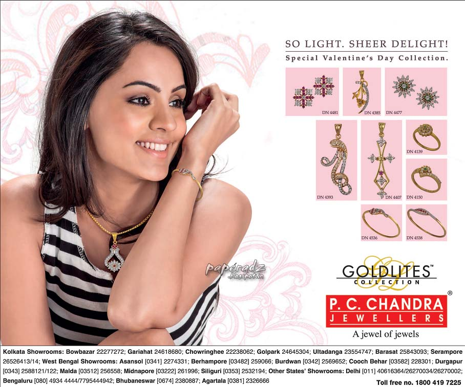 PC Chandra jewellers kolkatta latest ads | NEWS PAPER ADVERTISEMENTS