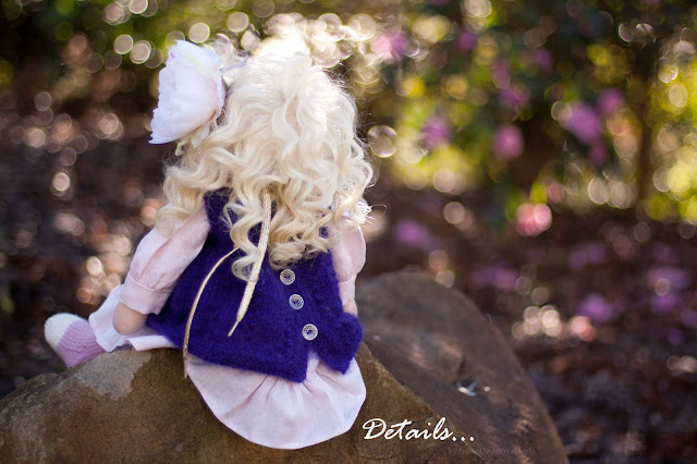 Natural Fiber Art doll