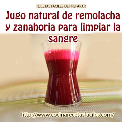 Jugo natural de remolacha y zanahoria para limpiar la sangre,un  batido potente en cuanto a su aporte nutricional y vitamínico,  protege el cuerpo de muchas enfermedades y ayuda a la prevención del cáncer.