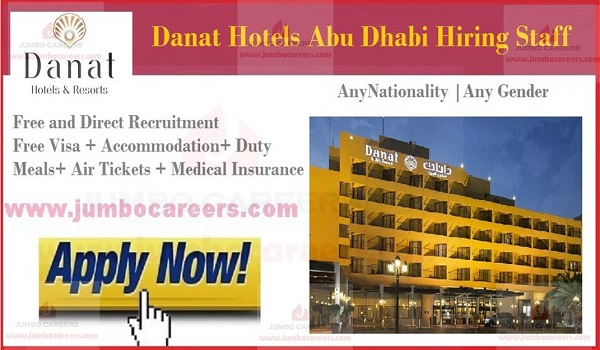 Danat Hotels and Resorts Abu Dhabi Free Staff Recruitment