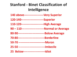 105 IQ test score